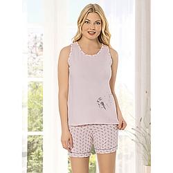 Пижама женская S-M/L-XL хлопковая майка с шортиками одуванчик Seyko