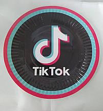 Набір паперових тарілок принт Tik Tok 18см 5шт.