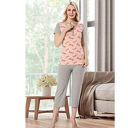 Пижама женская S-M/L-XL хлопковая демисезонная стрекоза Seyko