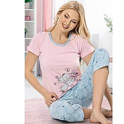 Пижама женская  S-M-L-XL хлопковая демисезонная Seyko слоны