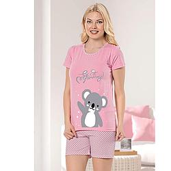 Пижама женская S/M-L/XL хлопковая демисезонная коала Seyko