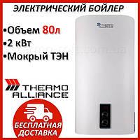 Бойлер 80 литров Thermo Alliance 1х(0,8+1,2) кВт DT80V20G(PD). Электрический накопительный водонагреватель
