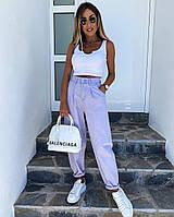 Модные джинсы-джогеры женские