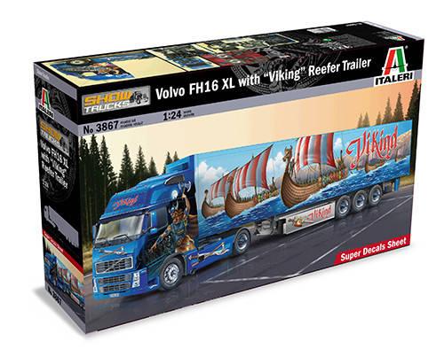 "Italeri 1/24 Volvo FH13 XL with ""Viking"" Reefer Trailer, фото 2"