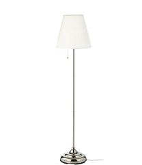 IKEA ARSTID (601.638.62) ОРСТІД Торшер, нікельований/білий