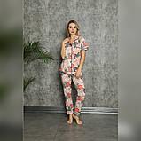 Піжама жіноча сорочка зі штанами, фото 3