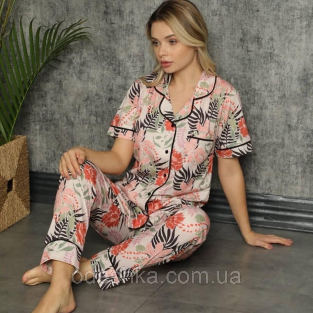 Піжама жіноча сорочка зі штанами