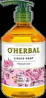 Рідке мило з екстрактом троянди 500 мл O Herbal
