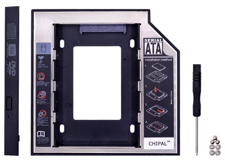 Карман SATA вместо DVD привода ноутбука 12.7mm