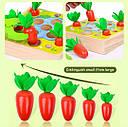"""Сортер 3 в 1 """"Морквинки з черв'ячками"""" в стилі Монтессорі, фото 4"""