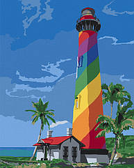 """Картина по номерам. Art Craft """"Маяк Сан Августин. Флорида"""" 38*50 см 10547-AC"""