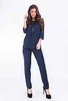 Женский костюм с подвеской  арт. 153 батал  темно-синий