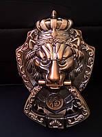 Ручка для дверей метал голова лева 175х110 мм