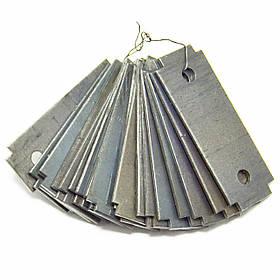 Комплект ножей для зернодробилки Эликор-1,исп-3,исп-5 (95*35 мм)