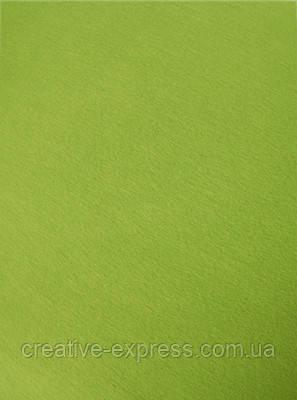 Фетр листковий (віскоза) 20х30 см, Зелений світлий, 150г, Heyda, фото 2