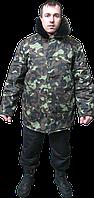 Куртка ватная с меховым воротником, камуфляжная куртка утепленная
