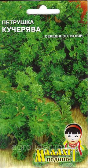 Семена петрушка Кучерявая 2г Зеленая (Малахiт Подiлля)
