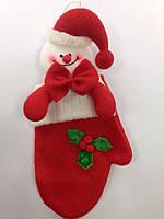 Новогодние игрушки мягкие 210мм Снеговик