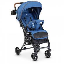 Детская прогулочная коляска El Camino ME 1039 IDEA Navy, лен, синий