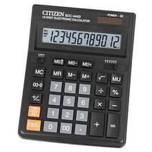 Калькулятор Citizen SDC-444S; настольный, 12-разрядный, литиевая + солнечная батарея (двойное), 199 x 153 x 31