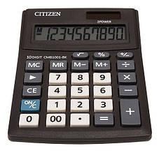 Калькулятор Citizen CMB1001-BK; настольный, 10-разрядный, литиевая + солнечная батарея (двойное), 137 х 102 x