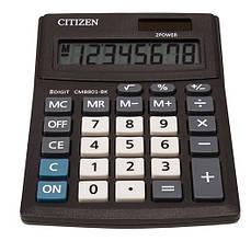 Калькулятор Citizen CMB801-BK; настольный, 8-разрядный, литиевая + солнечная батарея (двойное), 137 х 102 x 31