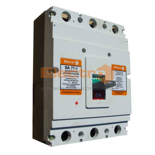 Автоматический выключатель ВА 77-1-800 3P 380В