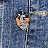 Металевий значок на рюкзак або одяг Серце, фото 4