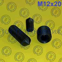 Винт установочный DIN 914, ГОСТ 8878-93, ISO 4027. М12х20, фото 1
