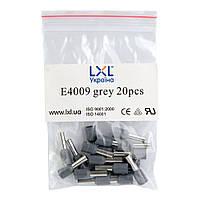 Наконечник штыревой втулочный изолированный 4.0 мм² (100 шт.) серый LXL