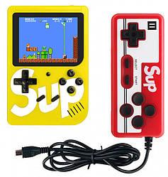 Ретро игровая приставка (Игровая консоль) Game Box sup 400 игр в 1 + джойстик Yellow
