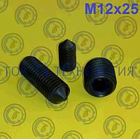 Настановний гвинт DIN 914, ГОСТ 8878-93, ISO 4027. М12х25, фото 1