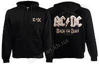 Толстовка AC DC Rock Or Bust -1 (обложка) на молнии