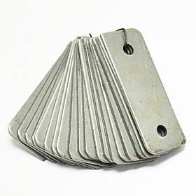 Комплект ножей для зернодробилки Эликор-1,исп-3,исп-5 (95*35 мм, закругленные)