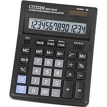 Калькулятор Citizen SDC-554S; настольный, 14-разрядный, литиевая + солнечная батарея (двойное), 199 x 153 x 31