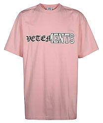 Футболка розовая Vetements Double P • Ветеменс футболка мужская   женская   детская