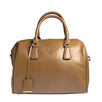Брендовая женская сумка из натуральной кожи Velina Fabbiano коричневая