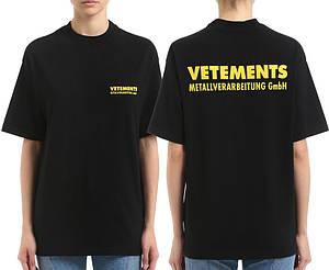 Футболка черная Vetements GmbH • Ветеменс футболка мужская   женская   детская