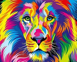 Картина по номерам VP1343 Радужный лев, 40x50 см., Babylon