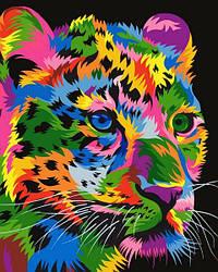 Картина по номерам VP1345 Радужный гепард, 40x50 см., Babylon