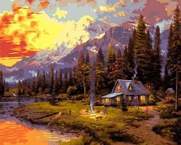 Картина по номерам VP1351 Отдых в лесном домике, 40x50 см., Babylon