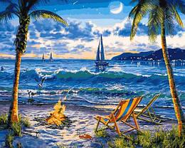Картина по номерам VP1356 Райский пляж, 40x50 см., Babylon