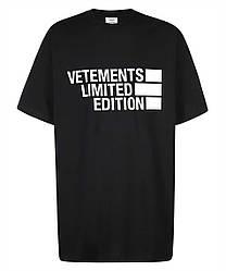 Футболка черная Vetements Limited Edition • Ветеменс футболка мужская   женская   детская