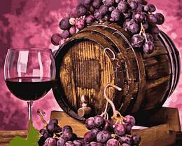 Картина по номерам Q2258 Вино в дубовой бочке, 40x50 см., Mariposa