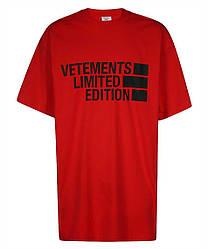Футболка красная Vetements Edition • Ветеменс футболка мужская   женская   детская