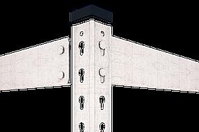 Стеллаж полочный Рембо R201 на зацепах (1900х900х400), ДСП, 220 кг/полка, фото 2