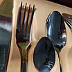 Набор столовых приборов ZEPTER (2833-12)  24 предмета с позолотой, фото 4