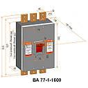 Автоматический выключатель ВА 77-1-1600 3P 380В, фото 2