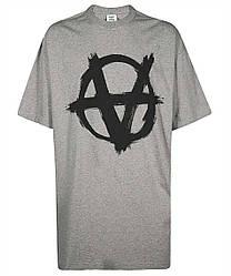 Футболка серая Vetements Anarchy G • Ветеменс футболка мужская   женская   детская