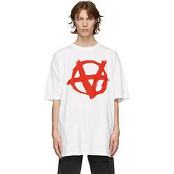 Футболка белая Vetements Anarchy W • Ветеменс футболка мужская   женская   детская